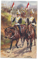 HARRY PAYNE 17th Lancers, Advance Guard, Tuck Oilette Postcard Posted 1915