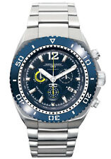 Jorg Gray Mens JG9700-24 Blue Dial Silver Stainless Steel Band Watch