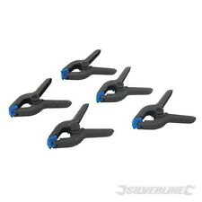 Silverline Spring Clamps 5pk 100mm Jaw - 435082