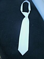 Vintage  Boys White  Communion Neck Tie -- Adjustable --Very Good--Orig Cond.