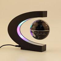 C shape LED World Map Decoration Magnetic Levitation Floating Globe Light  YZ