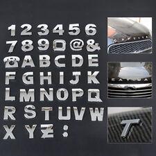 3D Car DIY Alphabet letter Number Symbol Emblem Badge Decals stickers A-Z 0-9