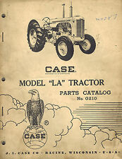 Case Vintage La Tractors Parts Manual 1969 G210