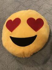 Soft Plush Heart Eye Emoji Pillow