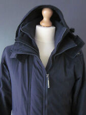 SUPERDRY WINDCHEATER FLEECE JACKET (S) BLUE NYLON HOODED STORM-FLAP TWIN-ZIP Exc