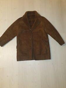 Vintage Morlands Genuine Sheepskin Coat Mens Size Small 1970s Brown Retro...