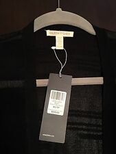 Eileen Fisher Straight Long Cardigan Burnout Stripe Italian Yarn Sz L 318