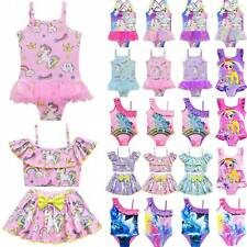 Girls Baby Kids Unicorn Swimming Costume Swimsuit Swimwear Bikini Age 3-10 Years