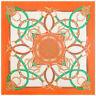 "Women's Orange Silk Head Scarf Big Size Square Shawl Euro Fashion Print 51""*51"""