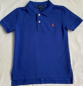 New Ralph Lauren Boys Cotton Polo-shirt S8 Years  -Barclay Blue