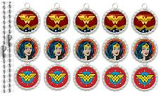 15 Wonder Woman Special Silver Flat Bottle Cap Necklaces Set 1