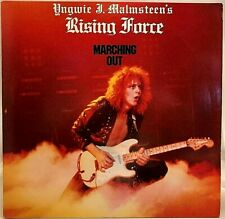 "YNGWIE MALMSTEEN'S RISING FORCE ""Marching On"" Vinyl LP - 1985 Polydor - EX"