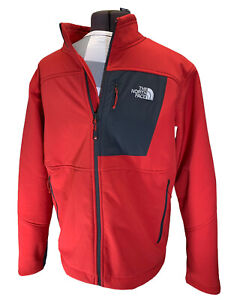 VG The North Face Summit Series Red Gray Zip Front Jacket L Large Soft Shell