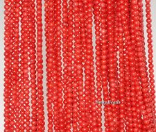 2MM RED CORAL GEMSTONE GRADE AA DARK RED ROUND 2MM LOOSE BEADS 16""
