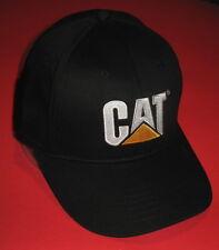 New Black w White Logo CAT BaseBall Cap Caterpillar Equipment Promo Ball Hat
