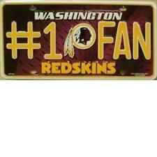 Washington Redskins #1 Fan Novelty License Plate