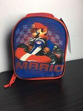 New NWT NINTENDO MARIO KART Wii Red & Blue INSULATED LUNCHBOX Cooler Bag