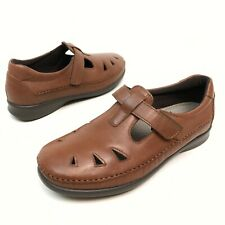@ SAS USA Roamer Women's Chestnut Brown Leather Comfort Shoes Loafers 10W NWOB