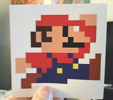 Mario jumping sticker. 4x4 (Buy any 3 of my stickers, Get One Free!)