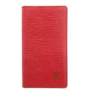 Louis Vuitton Epi Agenda Poche Red Leather Notebook Cover /?A0345