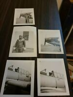 Lot Of 5 WWII FIGHTER PILOT AND PLANE B&W PHOTOS
