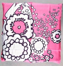 Ann Taylor Silk Scarf Mod Retro Design Pink