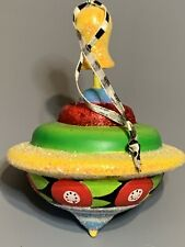 Rare Mary Engelbreit Resin Toy Spinning Top Ornament W/Cord Me Ink