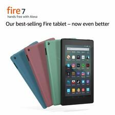 Fire 7 Kindle Amazon Tablet with Alexa,16 GB, BLACK, 9th Gen (2019) New UK Model