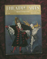THEATRE ARTS November 1955 Marcel Vertes Comedie Francaise W. Somerset Maugham