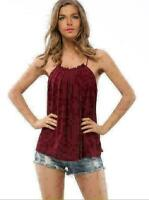 New Women's Tank Top Neck Tie T-shirt Sexy Sleeveless Shirt Casual Blouse Tops