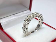 4.30 Carat Diamond Wedding Eternity Band 14K White Gold Engagement Ring Size N