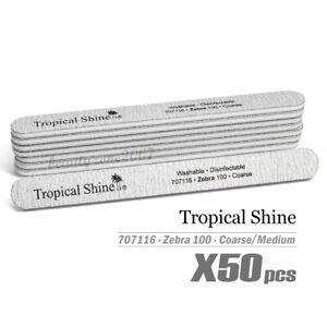 Tropical Shine Zebra Nail File 100/100 #707116 x 50 Pcs - Coarse