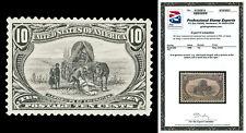 Scott 290 1898 10c Trans-Mississippi Mint Xf Lh Cat $140 Small Faults Pse Cert!