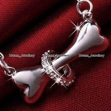DOG Puppy ossa collana argento animale Ciondolo Gioielli Regali per lei Girl