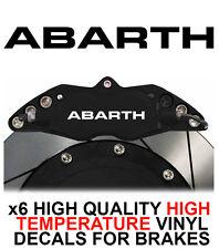 FIAT ABARTH HI - TEMP CAST VINYL BRAKE CALIPER DECALS STICKERS