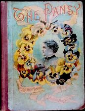 THE PANSY ~ Antique 1880's Victorian Children's Story Picture Book
