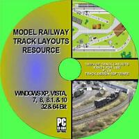 SUPERB MODEL RAILWAY TRACK LAYOUT RESOURCE MULTI GAUGE HORNBY OO Etc NEW PC CD