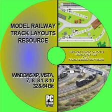 SUPERB MODEL RAILWAY TRACK LAYOUT RESOURCE MULTI GUAGE HORNBY OO Etc NEW PC CD