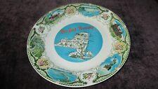 Rare New York Thruway Ceramic Souvenir Plate Irostone china Pearl Crown Arrow