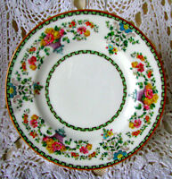 """Wedgwood Killarney Bread and Butter Plate, Hand Plated Art Deco 6"""" Plate W1146"""