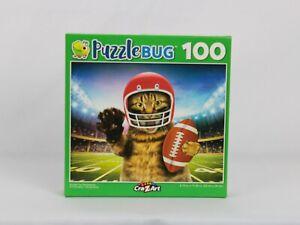 Kids Puzzle CraZart 100pc Scratch My Quarterback Football Cat Puzzle Bug NEW