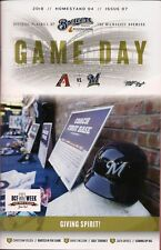 GIVING SPIRIT ON COVER MILWAUKEE BREWERS 2018 OFFICIAL GAMEDAY PROGRAM ISSUE #7