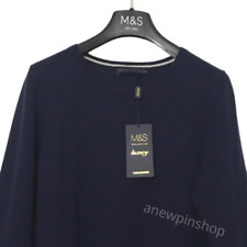 M&S Ladies Jumper Navy Blue Pure Cashmere 14 BNWT Marks Luxury Collection