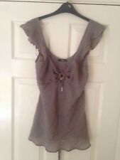 Jane Norman Brown Strappy Top Size 12