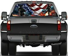 Army Strong American Soldiers USA Flag  Rear Window Graphic Decal  Truck Van