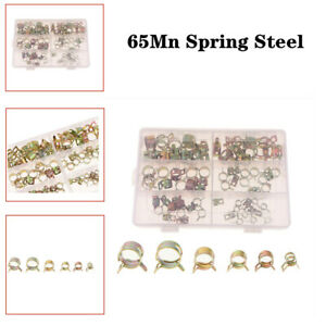 72PCS 65Mn Spring Clip Water Pipe Fuel Hose Air Tube Clamp Fastener 7-17mm 6Size