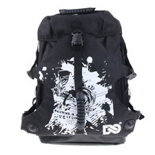 Quad Skate Roller Skates Bag Shoulder Backpack Skating Shoes Holder Black