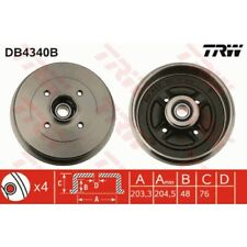 TRW Bremstrommel DB4340B NISSAN MICRA III 3 K12 C+C NOTE E11 1.2 1.4 1.5 1.6 dCi