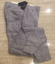 $295.00 Polo Ralph Lauren Italy  Blue Glen Plaid Sport Trousers Pants 38