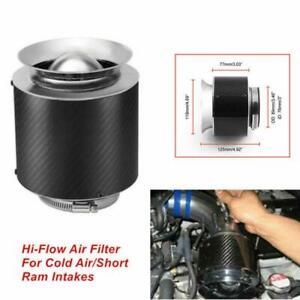 "1PCS 3"" Inlet Carbon Fiber Look Hi-Flow Air Filter For Cold Air/Short Ram Intake"